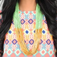 Bead Me Away Necklace: Mint Green