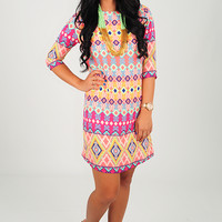 EVERLY: Need Your Love Dress: Multi