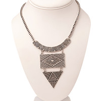 Tribal-Inspired Etched Necklace