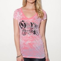 G by GUESS Bernadette Burnout Tee
