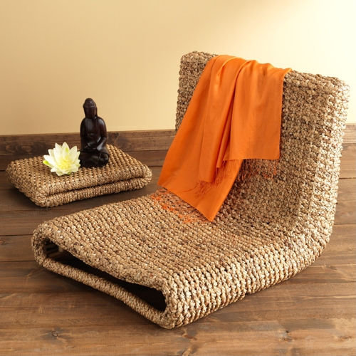 Water Hyacinth Meditation Chair + Tray - Furniture & Decor - Home - Gaiam