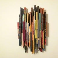 Wall Sculpture 51 Books by findersandkeepersnet on Etsy