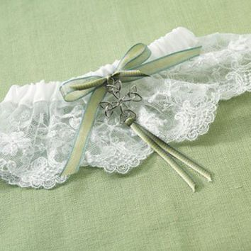 David's Bridal Celtic Charm Bridal Garter Style 1350