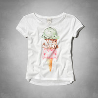 glitter treats graphic tee