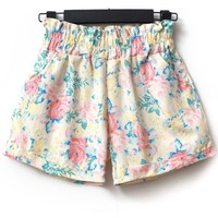 Sweet Flower High Waist Shorts - OASAP.com