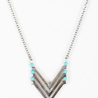 Chevron Turquoise Necklace - Urban Outfitters