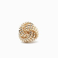 Textured Knot Adjustable Ring