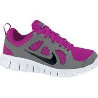 The Nike Free 5.0 (10.5c-3y) Pre-School Girls' Running Shoe.