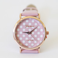 Polka Dot Design Watch