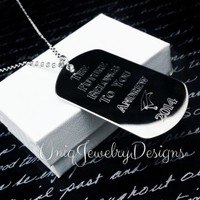 Engraved Graduation Dog Tag - UniqJewelryDesigns