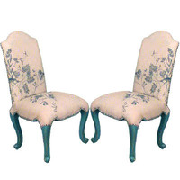 French Toile Side Chairs - Belle Escape