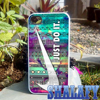 Nike aztec nebula  - iPhone 4/4s/5/5c/5s Case- Samsung Galaxy S2/S3/S4  Case- Blackberry z10 Case- iPod 4/5 Case - Black or White