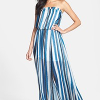 BB Dakota 'Danae' Striped Chiffon Maxi Dress | Nordstrom