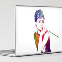 Audrey Hepburn Breakfast at Tiffany's Laptop & iPad Skin by D77 The DigArtisT | Society6