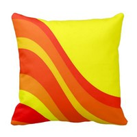 Sunset Waves Pillow