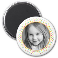 Colorful dots photo frame custom photograph