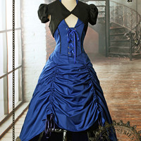 Doctor Who Inspired Gothic Steampunk Lady Costume Outfit - fanplusfriend