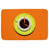 Bright Orange Coffee Time Bathmat