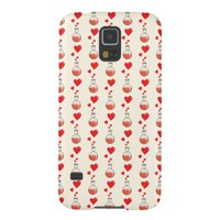 Geek Valentine's Day Flasks Hearts Pattern