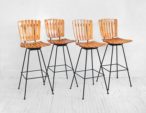 Vintage Arthur Umanoff Bar Stools Chairs Mid Century by Hindsvik