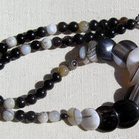 Botswana Agate Crystal Gemstone Necklace - Aten Collection - Special Offer Price