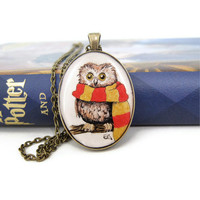 Owl Jewelry Owl Necklace Harry Potter Necklace Harry by silverthaw