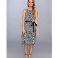Jessica Howard Belted Dress w/ Corkscrew Skirt