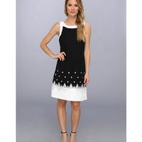 Jessica Howard Sleeveless Framed Embroidered Sheath