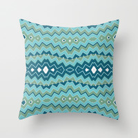 Tribal Seascape Throw Pillow by Webgrrl | Society6