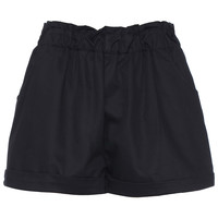 ROMWE Elastic Black Shorts