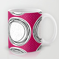 Circle Pattern Pink Mug by Claudia McBain