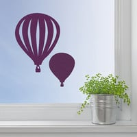 Hot Air Balloon Decal - Velvet Nursery Wall Decor - Fabric Balloon Sticker