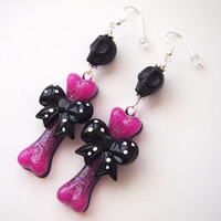 glamasaurus ♥Kawaii Cute Sweet Jewelry + Accessories ♥ — Cutey Kawaii Witch Doctor Dangle Earrings