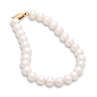 "Honora 6.0 - 6.5mm Cultured Freshwater Pearl Bracelet - 7.25"" - View All Bracelets - Zales"