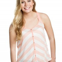 JOLT STRIPE BUTTON TANK