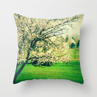 Meet Me Under the Old Apple Tree Throw Pillow by Olivia Joy StClaire