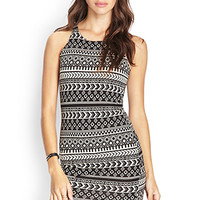 Tribal Print Knit Dress