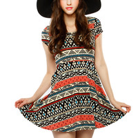 Papaya Clothing Online :: BOHEMIAN PRINT FLARE DRESS