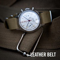 Seagull 1963 Air Force Watch Sapphire Crystal and Leather Strap - Seagull 1963 Air Force Military Watch