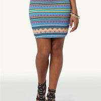 Neon Tribal Mini Skirt