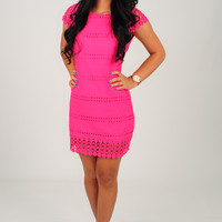 Way You Look Tonight Dress: Hot Pink