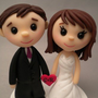Wedding Cake Topper - Custom Made - Teeny Topper Style | Luulla