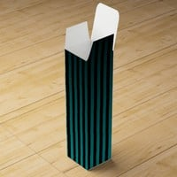 Teal/Black Stripe Gift Box for Wine or Spirits - by Lyle Hatch @ Zazzle.com