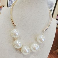 Modern Pearls Statement Necklace
