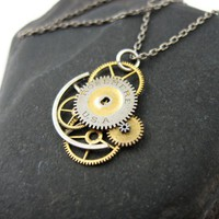 Clockwork Necklace Dawn Guardian Watch Gear by amechanicalmind