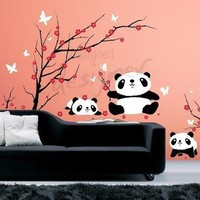 Kid Vinyl Wall Sticker Decal Art Lovely Pandas by designedDESIGNER