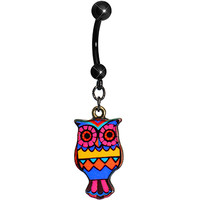 Navajo Dreams Artistic Owl Dangle Belly Ring | Body Candy Body Jewelry