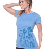 NEW! Windmills Recycled T-Shirt: Soul Flower Clothing