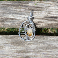 Wire Wrapped & Blessed Citrine Necklace
