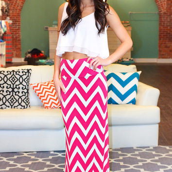 Like A Million Bucks Maxi Skirt - Fuschia